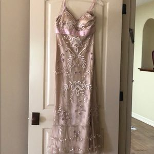 Beaded and embroidered gown